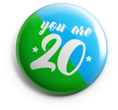 20 year badge