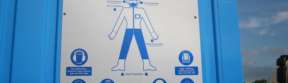 Head protection, PPE Sign